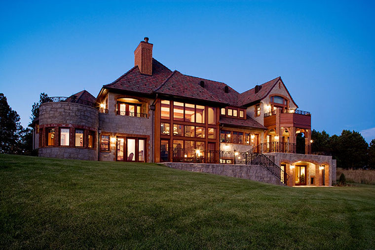 english country house style home in western south dakota by felhandler - Western Design Homes